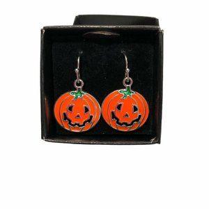 Halloween Pumpkin Dangling Drop Earrings Fall Autu